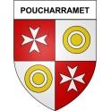 Stickers coat of arms Poucharramet adhesive sticker