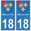 18 Mehun-Sur-Yèvre blason autocollant plaque ville