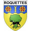 Stickers coat of arms Roquettes adhesive sticker