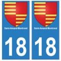 18 Saint-Amand-Montrond blason autocollant plaque ville