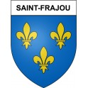 Stickers coat of arms Saint-Frajou adhesive sticker