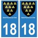 18 Saint-Florent-sur-Cher blason autocollant plaque ville