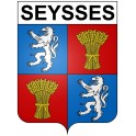 Stickers coat of arms Seysses adhesive sticker