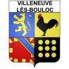 Villeneuve-lès-Bouloc 31 ville Stickers blason autocollant adhésif