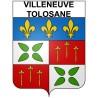 Villeneuve-Tolosane 31 ville Stickers blason autocollant adhésif