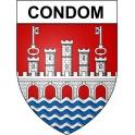 Condom 32 ville Stickers blason autocollant adhésif