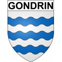 Stickers coat of arms Gondrin adhesive sticker