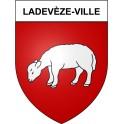 Stickers coat of arms Ladevèze-Ville adhesive sticker