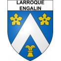 Stickers coat of arms Larroque-Engalin adhesive sticker