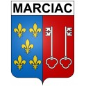 Stickers coat of arms Marciac adhesive sticker