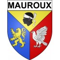 Stickers coat of arms Mauroux adhesive sticker
