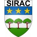 Sirac 32 ville Stickers blason autocollant adhésif