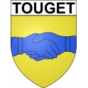Stickers coat of arms Touget adhesive sticker