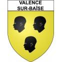 Valence-sur-Baïse 32 ville Stickers blason autocollant adhésif