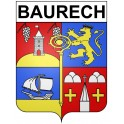 Stickers coat of arms Baurech adhesive sticker