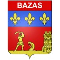 Stickers coat of arms Bazas adhesive sticker