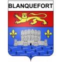 Blanquefort 33 ville Stickers blason autocollant adhésif