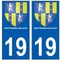 19 Saint-Pantaléon-de-Larche blason autocollant plaque ville