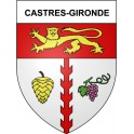 Stickers coat of arms Castres-Gironde adhesive sticker