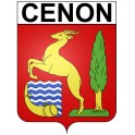 Stickers coat of arms Cenon adhesive sticker