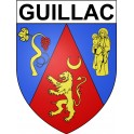 Stickers coat of arms Guillac adhesive sticker