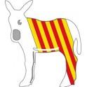 burro catalan autocollant plaque