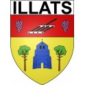 Stickers coat of arms Illats adhesive sticker