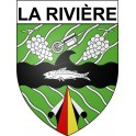 Stickers coat of arms La Rivière adhesive sticker