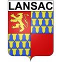 Lansac 33 ville Stickers blason autocollant adhésif