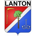 Lanton 33 ville Stickers blason autocollant adhésif