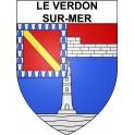 Stickers coat of arms Le Verdon-sur-Mer adhesive sticker