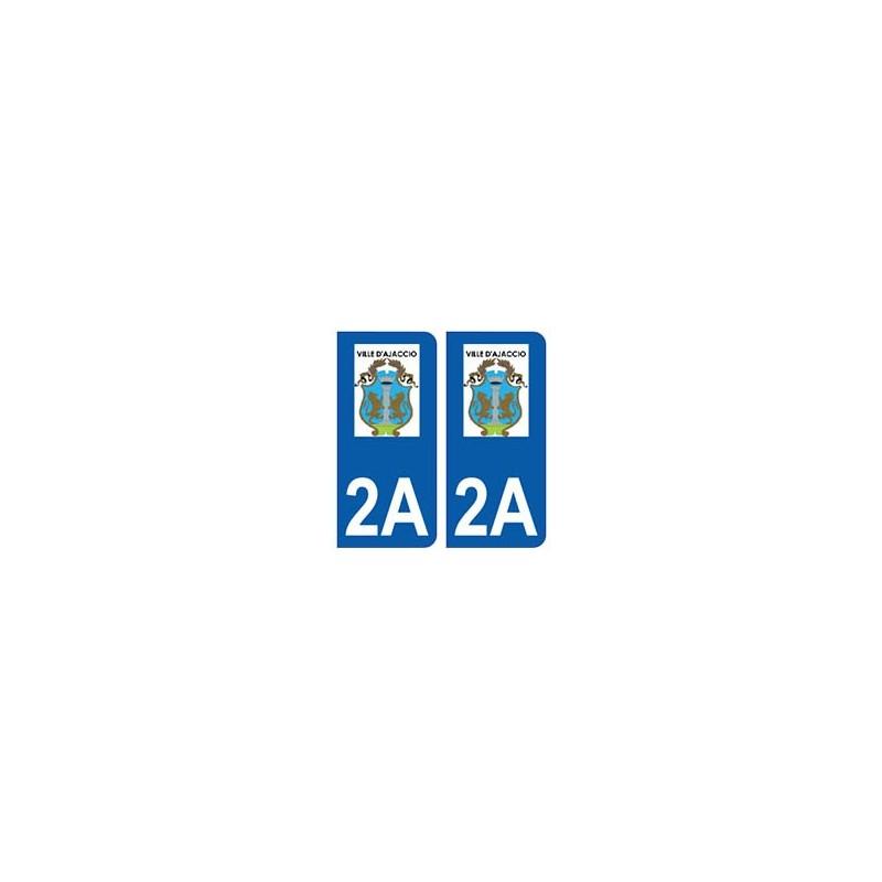 2a ajaccio logo autocollant plaque immatriculation stickers ville. Black Bedroom Furniture Sets. Home Design Ideas