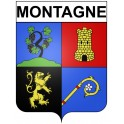 Stickers coat of arms Montagne adhesive sticker