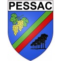 Stickers coat of arms Pessac adhesive sticker