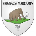 Stickers coat of arms Prignac-et-Marcamps adhesive sticker