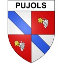 Pujols 33 ville Stickers blason autocollant adhésif