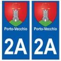 2A Porto-vecchio blason autocollant plaque stickers ville