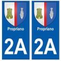 2A Propriano blason autocollant plaque stickers ville