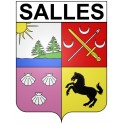 Stickers coat of arms Salles adhesive sticker