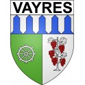 Stickers coat of arms Vayres adhesive sticker