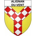Stickers coat of arms Alignan-du-Vent adhesive sticker