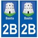 2B Bastia autocollant plaque blason armoiries stickers ville