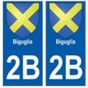 2B Biguglia autocollant plaque blason armoiries stickers ville