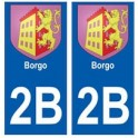 2B Borgo autocollant plaque blason armoiries stickers ville