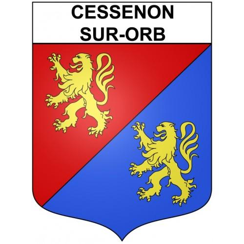 Cessenon-sur-Orb 34 ville Stickers blason autocollant adhésif
