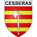 Stickers coat of arms Cesseras adhesive sticker