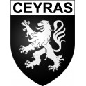 Stickers coat of arms Ceyras adhesive sticker