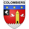 Stickers coat of arms Colombiers adhesive sticker