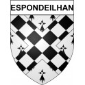 Stickers coat of arms Espondeilhan adhesive sticker
