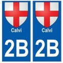 2B Calvi sticker plate coat of arms coat of arms stickers city